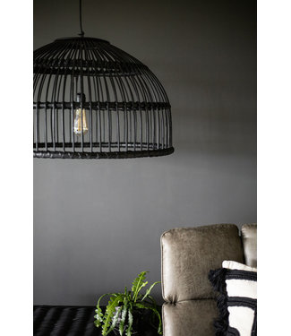 Sweet Living Rotan Hanglamp Zwart - Ø70xH45 cm
