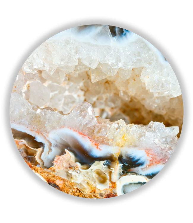 Sweet Living Wandcirkel Chalcedony Geode