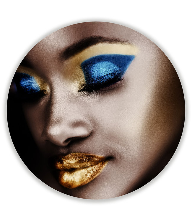 Sweet Living Wandcirkel Golden Lips