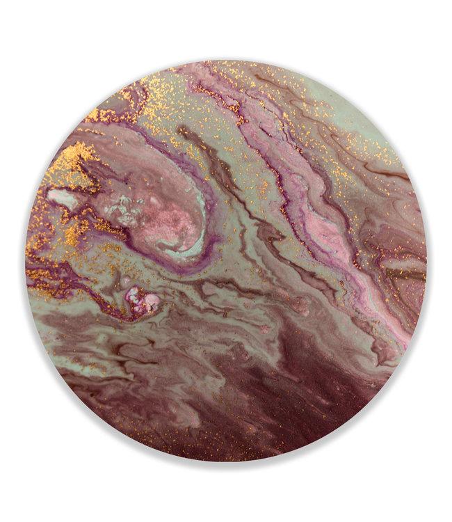 Sweet Living Wandcirkel Abstract Marmer