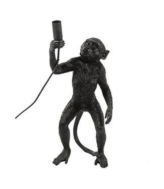 Sweet Living Zwarte Tafellamp Monkey - 18x19,5xH43 cm