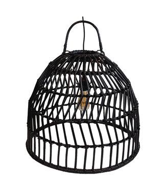 Sweet Living Zwarte Rotan Hanglamp Arwin - Ø59xH48 cm