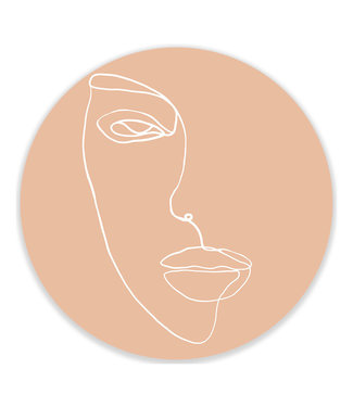 Sweet Living Wandcirkel Single Line Face