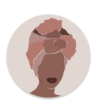 Sweet Living Wandcirkel Abstract African Woman