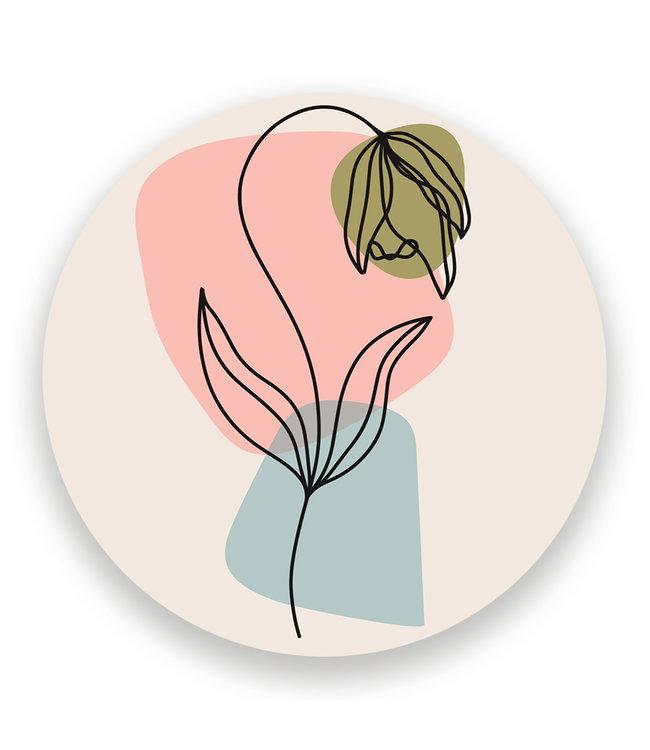 Sweet Living Wandcirkel Simplistic Flower