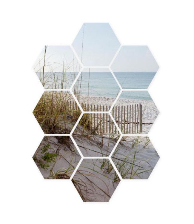 Sweet Living Hexagon Zee & Strand - 58xH79 cm