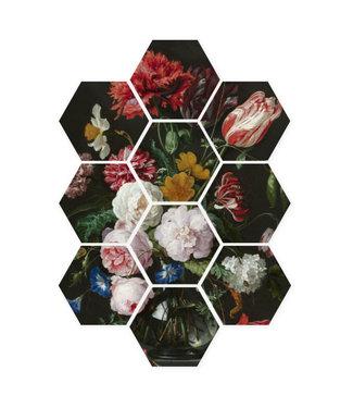 Sweet Living Hexagon De Heem Stilleven - 58xH79 cm