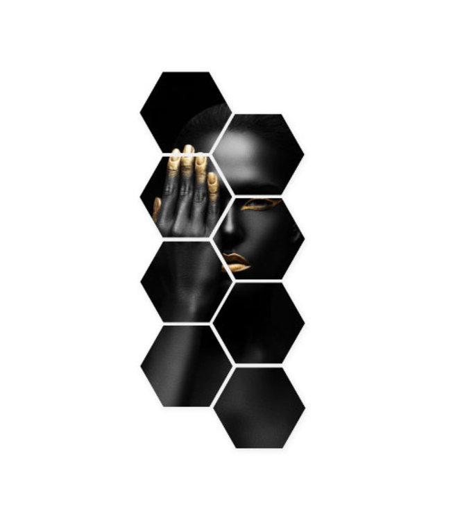 Sweet Living Hexagon Closed Eye - 40xH90 cm