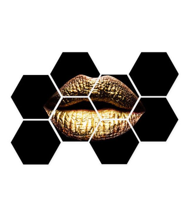 Sweet Living Hexagon Golden Lips - 76xH50 cm
