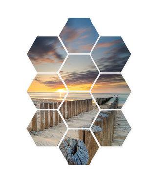 Sweet Living Hexagon Golfbrekers - 59xH78 cm