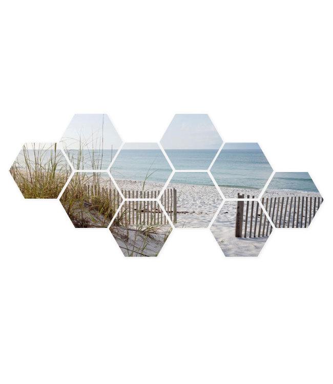 Sweet Living Hexagon Zee en Strand - 111xH50 cm