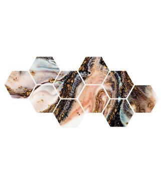 Sweet Living Hexagon Agaat Steen - 111xH50 cm