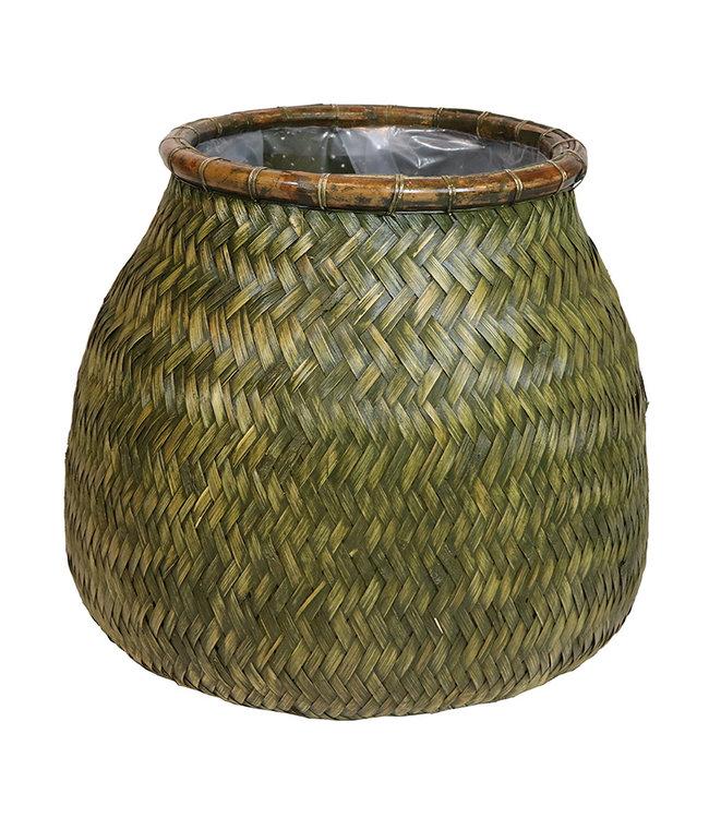 Sweet Living Bamboe Plantenmand Onno - Ø47xH48 cm