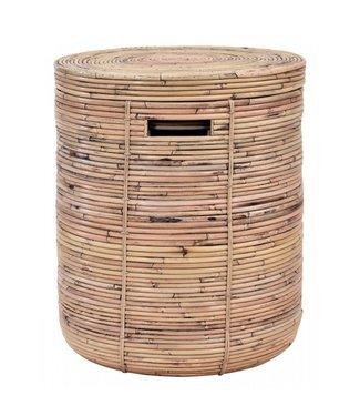 Sweet Living Bamboe Wasmand Taco - Ø45xH54 cm