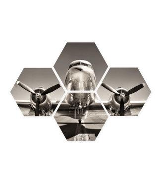 Sweet Living Hexagon Airplane  - 40xH50 cm