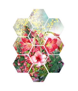 Sweet Living Hexagon Boeket-Bloemen - 58xH79 cm