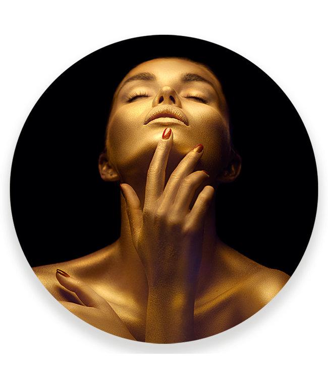 Sweet Living Wandcirkel Golden Woman