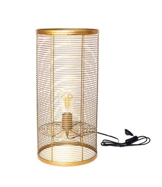 Sweet Living Gouden Tafellamp Cato - Ø25xH55 cm