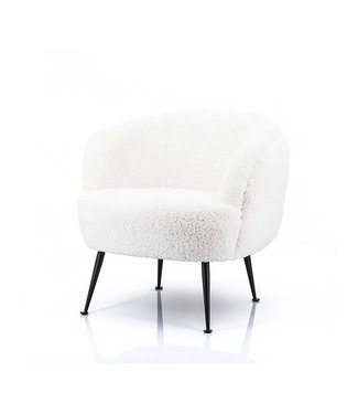 By-Boo Witte Fauteuil Babe - 74x72xH71 cm