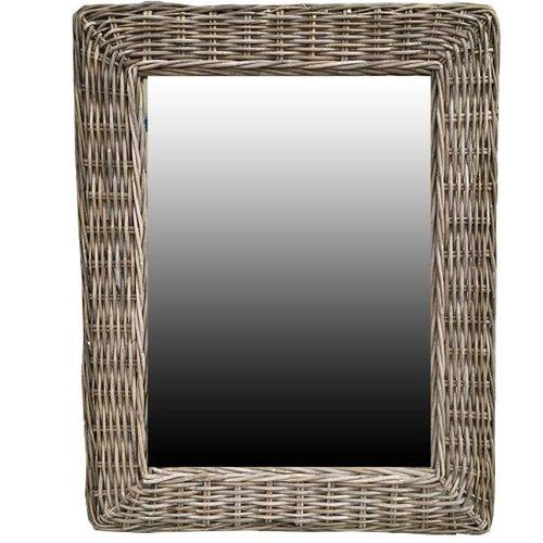 Sweet Living Rotan Spiegel - 85x65x3 cm