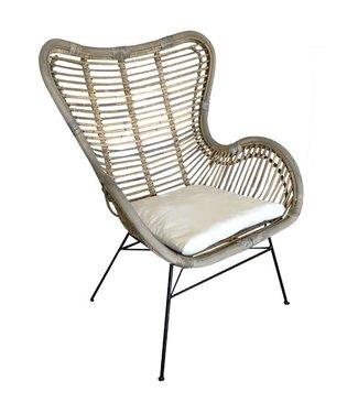 Sweet Living Rotan Vlinderstoel - 70x76x90 cm
