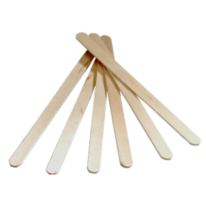 Wooden wax spatulas 100 pieces small