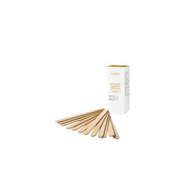"""Italwax Solo Glowax houten waxspatels """"wenkbrauwen"""", 50 stuks"""
