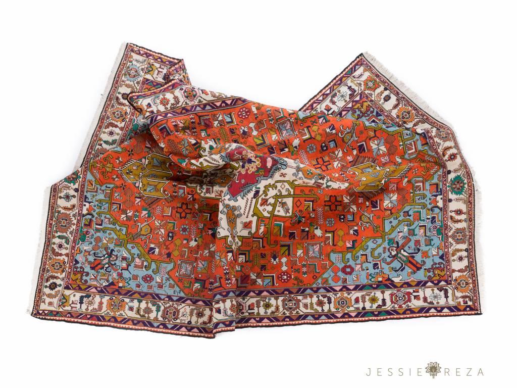 Kelim Warni tapijt van zijde