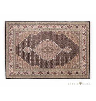Fijn Perzisch Tabriz tapijt met zijde