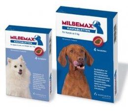 Milbemax smakelijke tabletten Hond 3 + 1 gratis