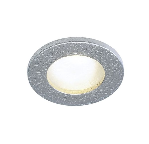 DOLIX GU10, inbouwspot, rond, titanium, max. 35W