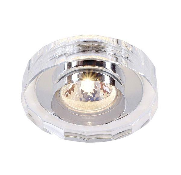 CRYSTAL II, inbouwspot, rond, chroom/kristal helder, MR16, max. 35W