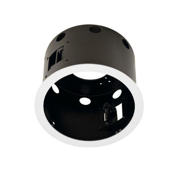 AIXLIGHT PRO 1 FLAT FRAME ROND, inbouwframe, mat wit/zwart