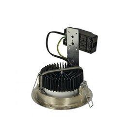 LUZO LED DISK, inbouwspot, rond, mat chroom, 2700K, 12W, 85°