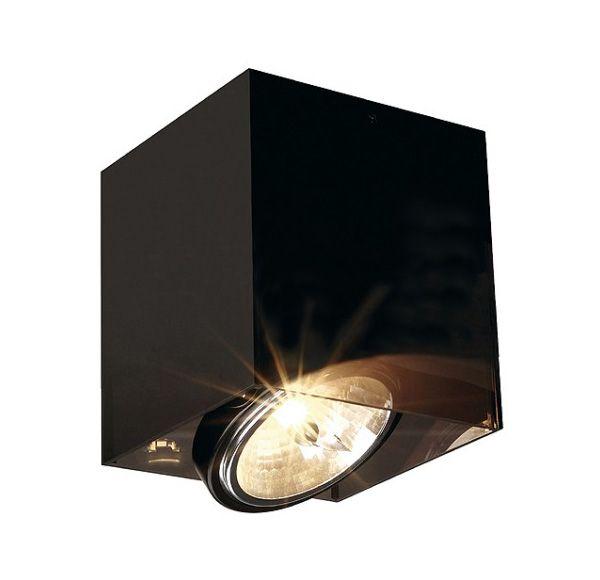 ACRYLBOX SINGLE QRB111, plafond armatuur, vierkant, zwart/translucent, max. 75W
