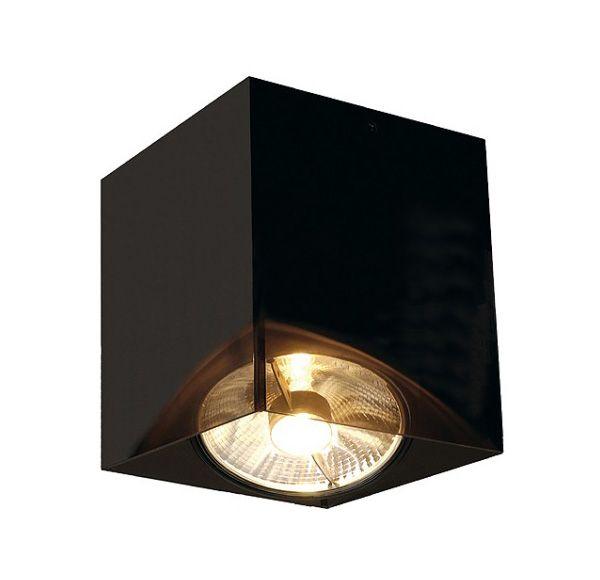 ACRYLBOX SINGLE ES111, plafond armatuur, vierkant, zwart/translucent, max. 75W