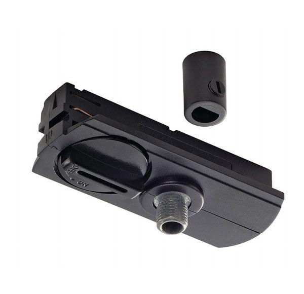 1-fase pendeladapter zwart, incl. trekontlasting en schroefdraad