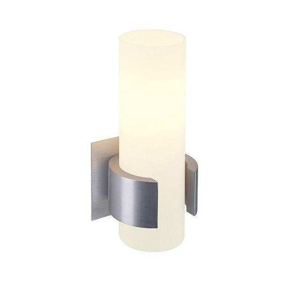DENA I, alu-geborsteld, glas deels gesatineerd, E14, max. 40W