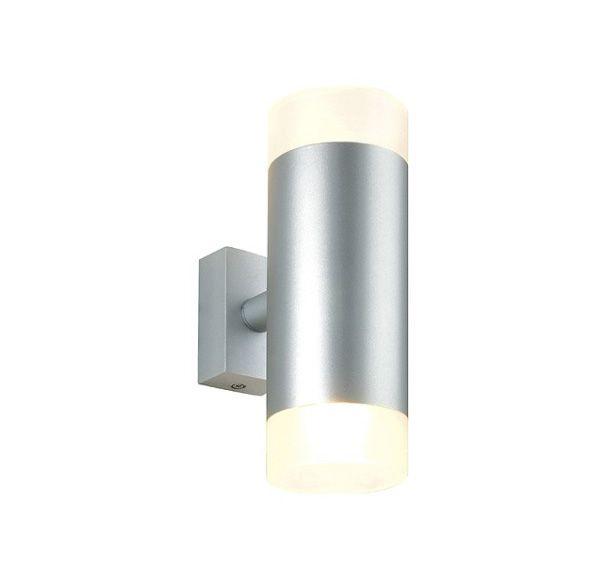 ASTINA UP/DOWN, wand armatuur, rond, zilvergrijs, 2x GU10, max. 50W, gesatineerd glas