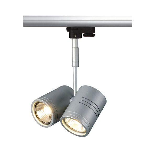 BIMA II, zilvergrijs, 2x GU10, max. 50W, incl. 3-fase adapter