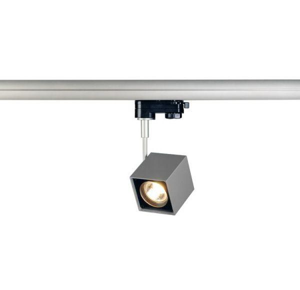 ALTRA DICE SPOT, vierkant, zilvergrijs/zwart, GU10, max. 50W, incl. 3-fase adapter