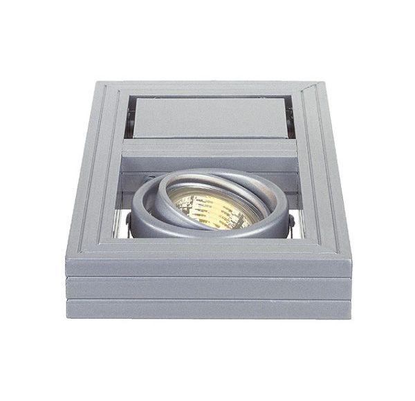 AIXLIGHT KARDAFRAME WALL GU10, zilvergrijs, max. 50W