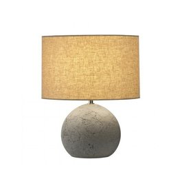 SOPRANA SOLID TL-1, tafellamp, rond, grijs-beige textile, E27, max. 40W