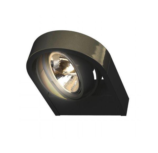 AIXLIGHT R QRB111, wand armatuur, rond, zwart, QRB111, max. 1x 50W