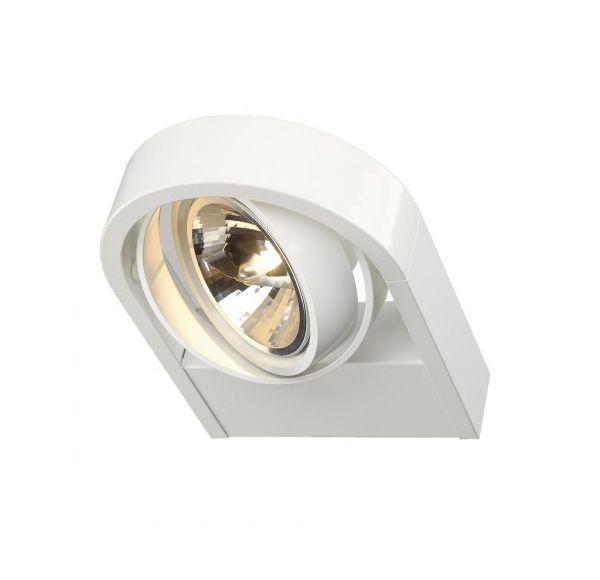 AIXLIGHT R QRB111, wand armatuur, rond, wit, QRB111, max. 1x 50W