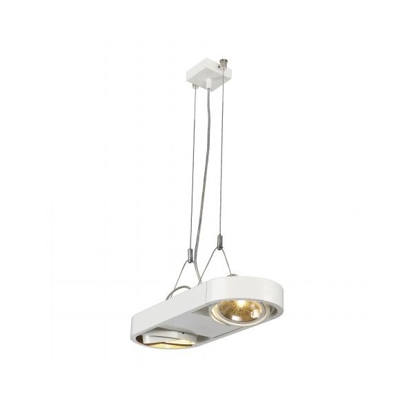 AIXLIGHT R DUO QRB111, pendel, rond, wit, QRB111, max. 2x 50W