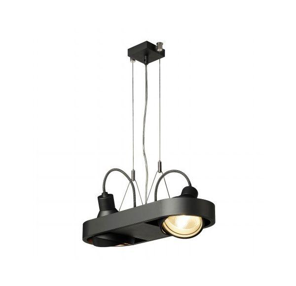 AIXLIGHT R DUO HQI111, pendel, rond, zwart, G12, 2x70W, zonder reflector