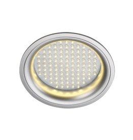 LEDPANEL ROND, inbouw armatuur, zilvergrijs, 8W, warmwit LED