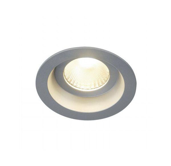 BOOST IP44 9W, inbouwspot, rond, zilvergrijs, 9W LED, warmwit