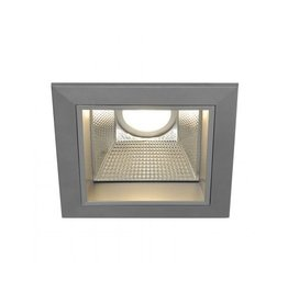 LED DOWNLIGHT PRO S, vierkant, zilvergrijs, 12W, incl. LED Disk module 800lm, 2700K